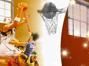 Basketball on Vacant Basketball Court